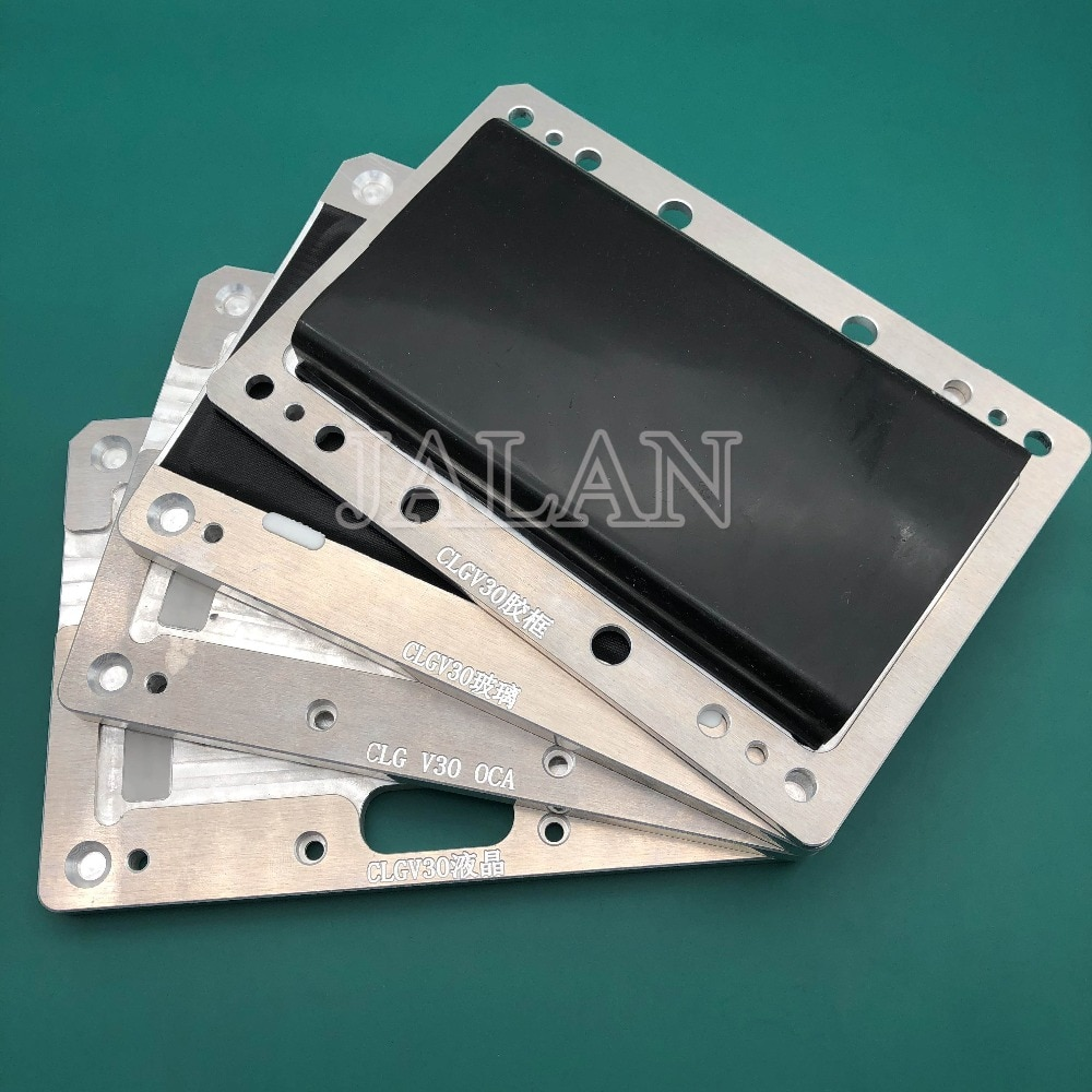 YMJ new edge laminating mold For LG V30 digitizer LCD display touch screen/oca/glass unbent flex cable positioning laminating enlarge
