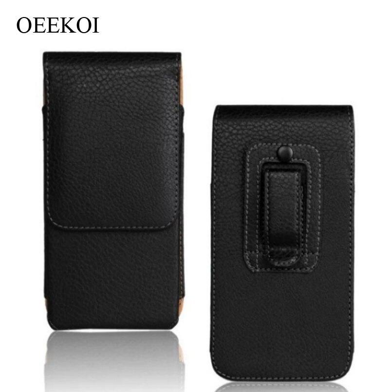OEEKOI Clipe para Cinto Cintura PU Leather Titular Virar Pouch Case para Blackberry Key2/Movimento/Aurora/KEYone/ DTEK60/Priv