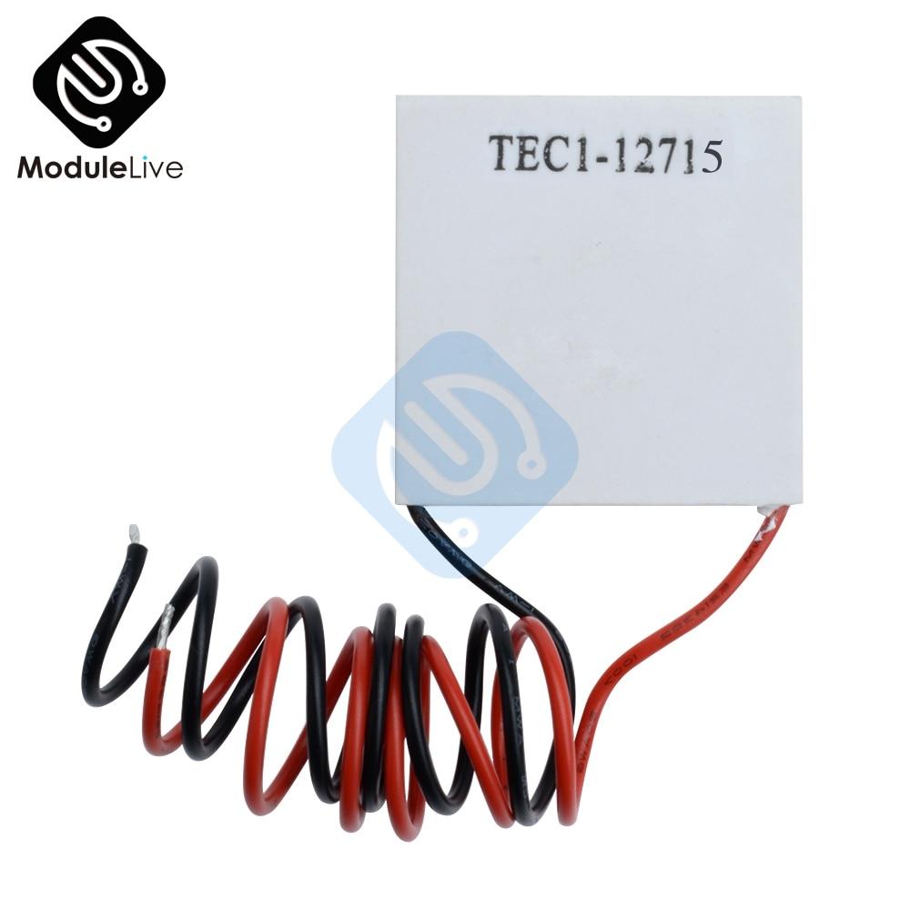 TEC1-12715 TEC1 TEC 12715 Heatsink Thermoelectric Cooler Cool Cooling Peltier Plate Module 40*40mm 40x40mm 40x40 Heat Sink 12V