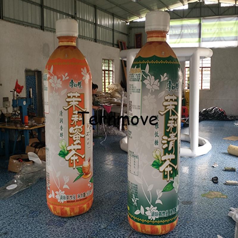 Botella inflable gigante puede inflable cerveza vino tinto botella de café puede globo modelo con bomba de aire