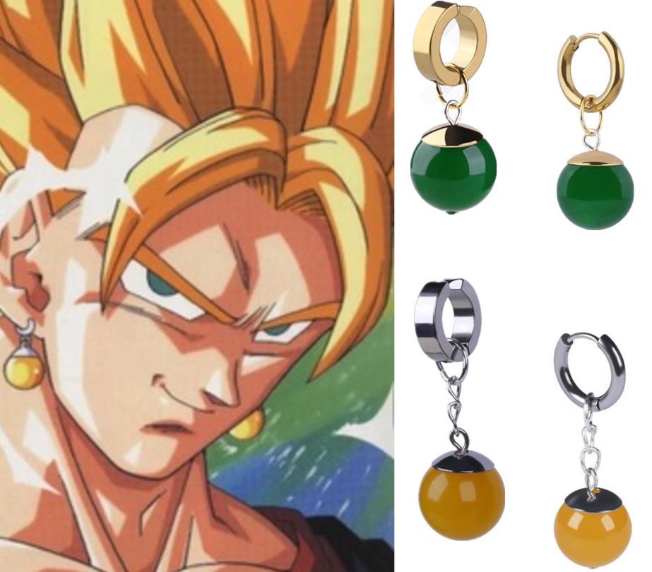 Anime Supreme Kai Black Son Goku Kakarotto Cosplay Zamasu Potara Earrings Ear Stud Pendants