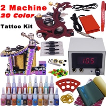 tattoo set 2 top tattoo machine 20 color inks YLT-23