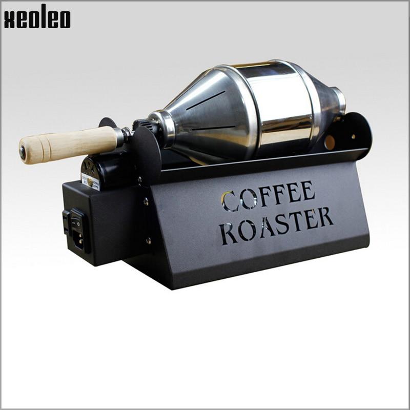 Xeoleo محمصة قهوة تجارية للاستخدام المنزلي ماكينة تحميص حبوب البن من الفولاذ المقاوم للصدأ محمصة قهوة 800g/ساعة