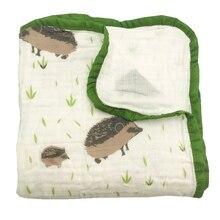 Couvertures en mousseline 100% coton à quatre couches   Couverture pour bébé, couverture de literie Super confortable pour nouveau-né, lange emmaillotage bébés