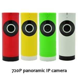 (1 pcs)180 degree HD 720P Panoramic wifi IP Camera Night Version LED support IOS Andorid APP control Fish Eye Wireless CCTV