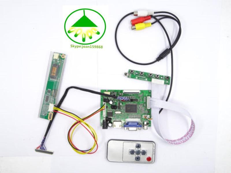 HDMI + VGA + AV IR Controller Driver Board DIY kit para LCD LTN154X3-L0D 1280X800 Frete grátis
