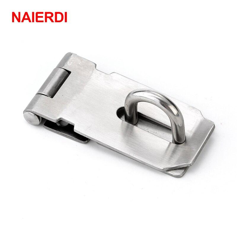 Cerradura de cerrojo de la caja del Gabinete de NAIERDI-J7 cerradura de resorte de la caja de acero inoxidable cerraduras de palanca para el Hardware de los muebles de la puerta del cajón