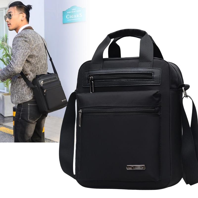 الرجال حقيبة كروسبودي حقيبة ساعي الذكور مقاوم للماء حقيبة النايلون على الكتف حقيبة يد الأعمال حقيبة حقيبة رجالية