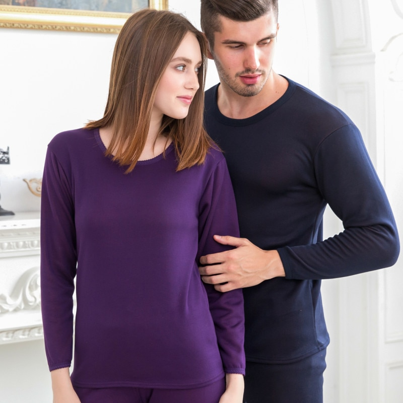 2020 New Winter Velvet Thick Lovers Thermal Underwear For Men Women Warm Layered Clothing Pajamas Long Johns Second Thermal Skin