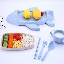 الكرتون علب الاغذية الأطفال صندوق الغداء مع أدوات المائدة الطائرات النمذجة بينتو صندوق مانعة للتسرب الغذاء تخزين الحاويات للأطفال