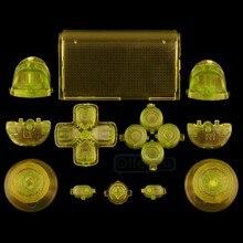 Kits de boutons complets personnalisés R1L1R2L2 déclencheurs pour contrôleur PS4 JDM-010 jaune clair JDM-020