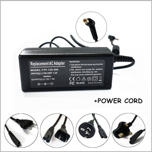 12V 5A 60W AC DC adaptador de cargador de fuente de alimentación para iMAX B6 B5 B8 MONITOR LCD PSU
