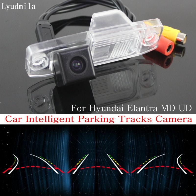 Lyudmila Car Intelligent Parking Tracks Camera FOR Hyundai Elantra MD UD / HD CCD Night Vision Back up Reverse Rear View Camera