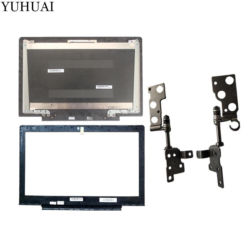 Nuevo para Lenovo Ideapad 700-15 700-15isk Laptop LCD contraportada negro/LCD cubierta de bisel/LCD bisagras L & R