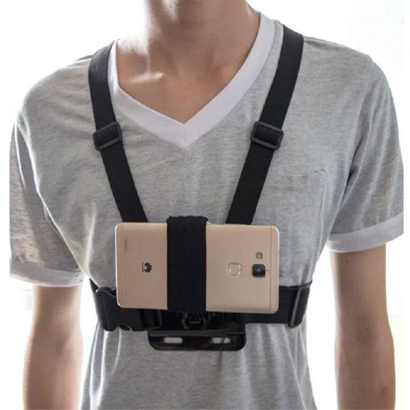 Универсальный держатель для телефона на присоске, нагрудный ремень, крепление для телефона, держатель для головы/запястья, монопод для iPhone Huawei Samsung