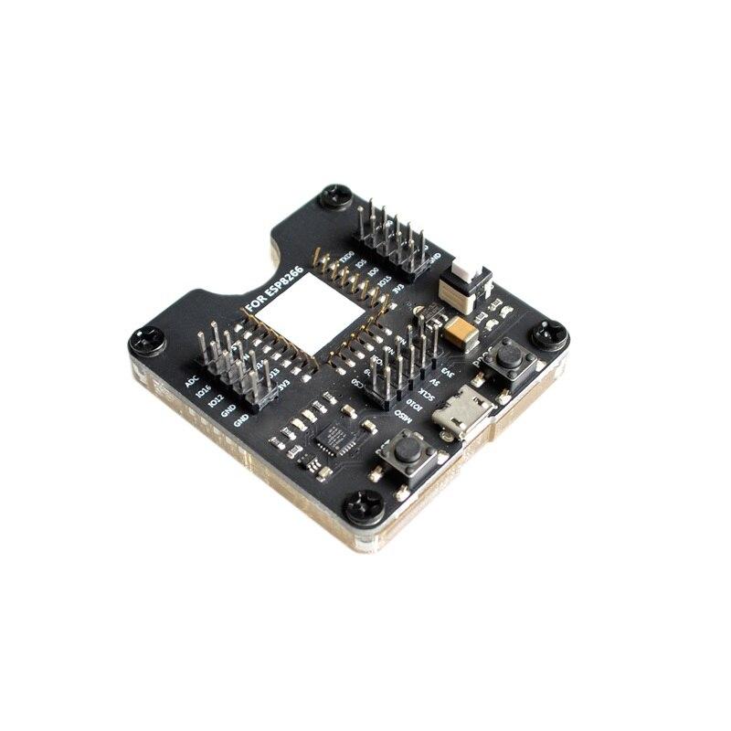 Quemador de estante de prueba ESP8266, soporte de descarga de un botón ESP12S, ESP07S y otros módulos