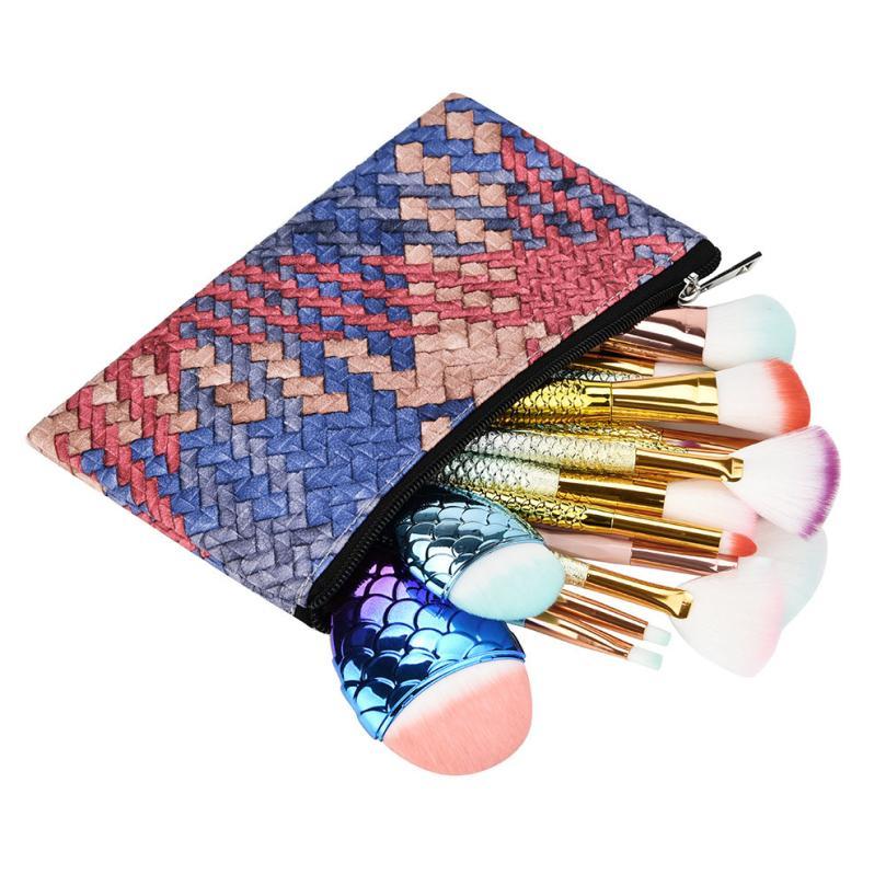Bolsa de cosméticos, bolsa de viaje para cosméticos, bolsa de maquillaje multifunción a la moda para chica, bolsa de almacenamiento con cremallera 18jun12