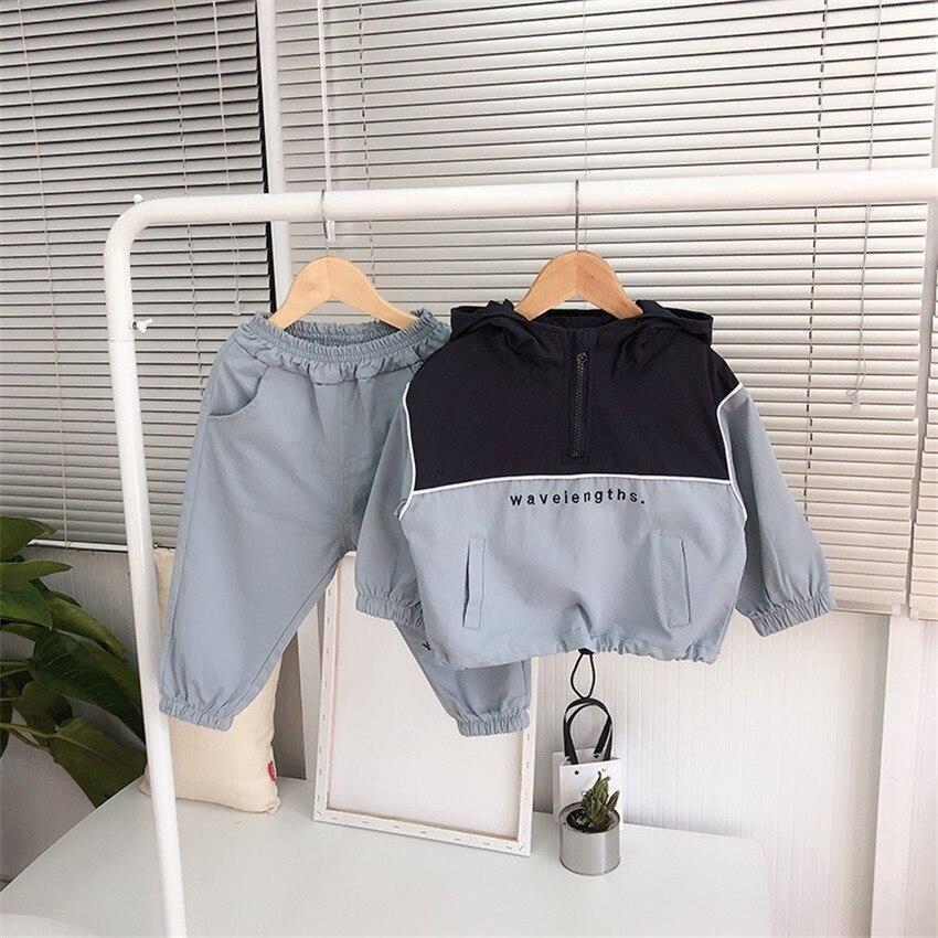 Juegos de ropa unisex moda coreana sudaderas + Pantalones traje deportivo para niña primavera otoño niños chándal niños ropa 2019
