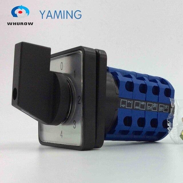 ロータリースイッチYMW26-20/4 5 p ui 380ボルトi番目20a 4極5位置16端子高品質切替カムスイッチスライバー接触