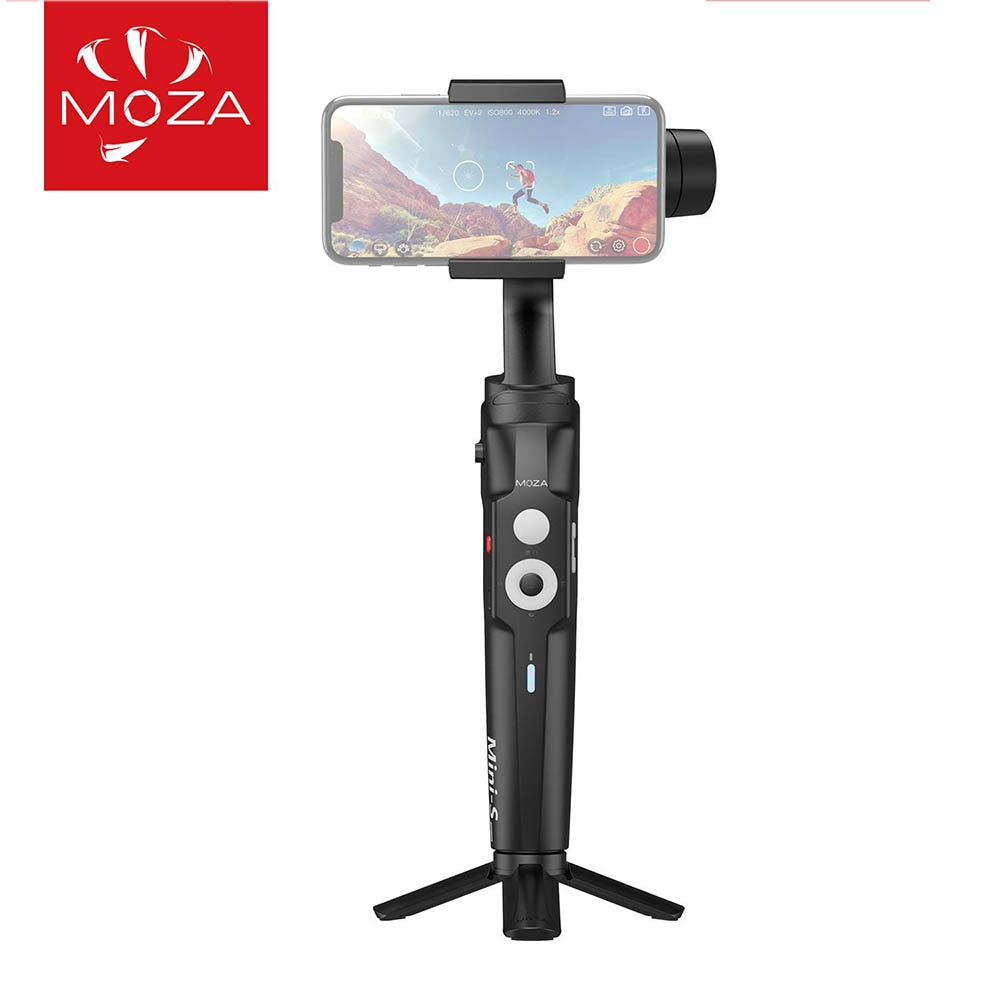 Review MOZA Mini-S Smartphone Gimbal 3 Axis Stabilizer Gimbal for Phone iPhone 11 Pro Xr Xs 8 Samsung S10 Note10 Huawei Mate 20 30 Vlog