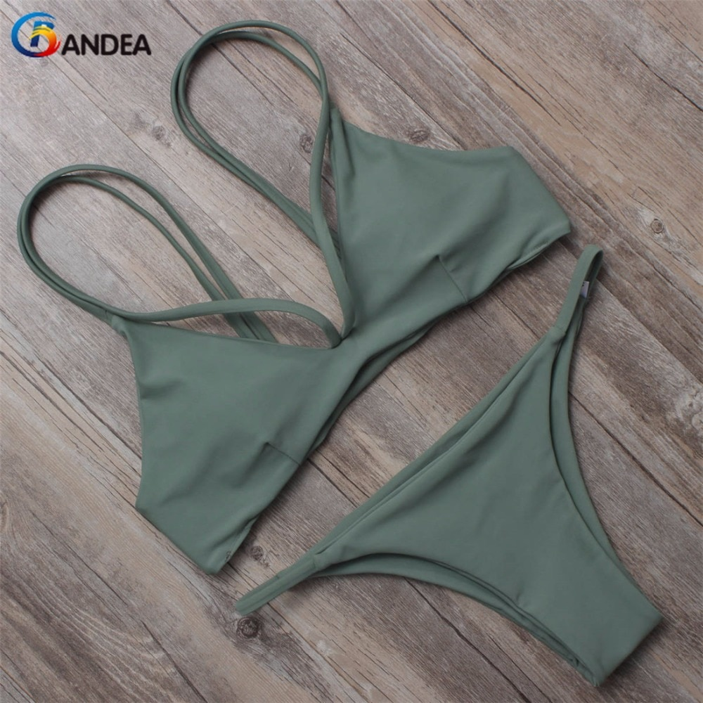 BANDEA brazilian bikini 2019 swimwear women bikini brand reversible swimsuit halter swimwear padding swim suit HA860