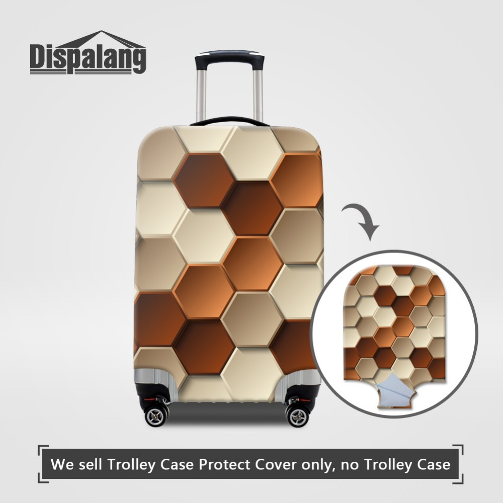 Dispalang diseño geométrico funda de equipaje de viaje elasticidad funda protectora para maleta para 18-30 pulgadas cubierta de carrito cubiertas de polvo