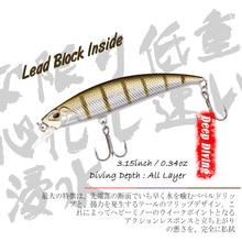8cm 9.5g Fishing Lures Siking Minnow Bait Artficial Hard Crankbait for Pike Bass Japan Swim Bait Fishing Wobblers Fake Fish