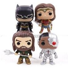 Justice League Batman 204/Wonder Frau 206/Aquaman 205/Cyborg 209 Vinyl Sammlung Abbildung Modell Puppe Spielzeug