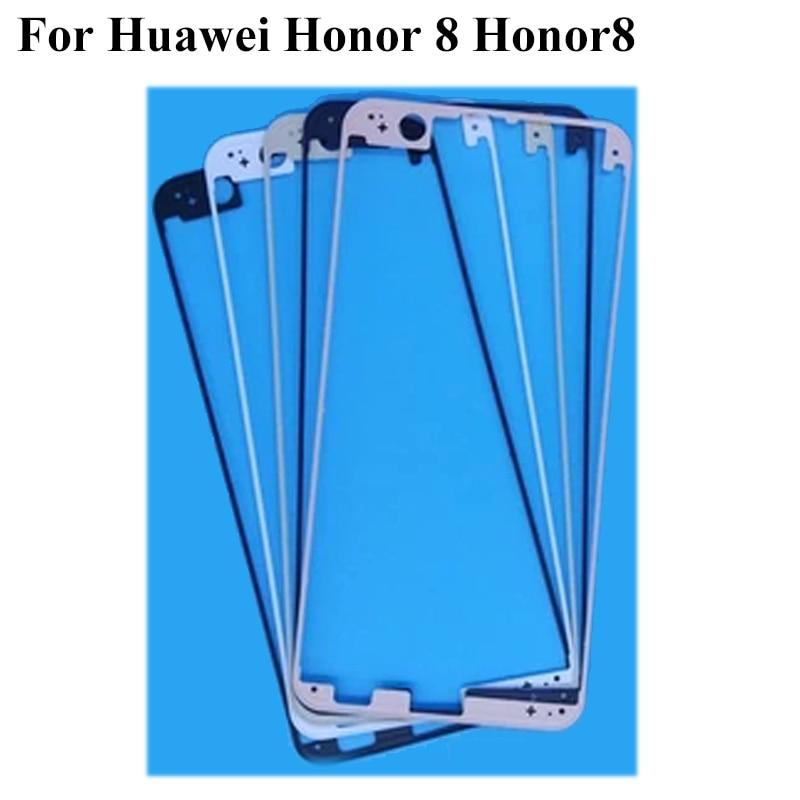 2 piezas para Huawei Honor 8 Honor8 carcasa frontal Placa de chasis pantalla LCD bisel Marco de placa frontal (sin LCD)