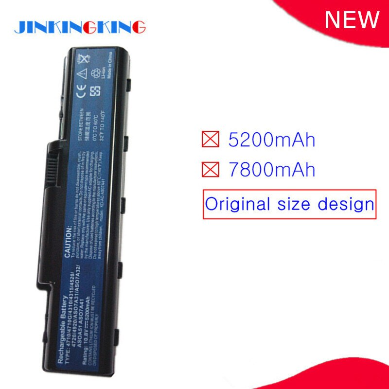 Bateria para laptop aspide 4710 4710g 4710z z-as07a32 as07a41 as07a42 as07a51 as07a52 as07a71»
