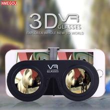 Mini Katlanır 3D Sanal Gerçeklik Cep Telefonu Miyop Miyopik VR Gözlük 3D Filmler ve Oyun IOS Android Smartphone için Cep