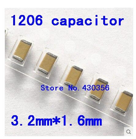 Frete grátis 1206 SMD capacitor 47 P 50 V 200 pcs X7R
