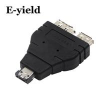 Alimentation eSATA vers eSATA USB Combo séparateur convertisseur adaptateur connecteur câble disque dur double Port convertisseurs universel