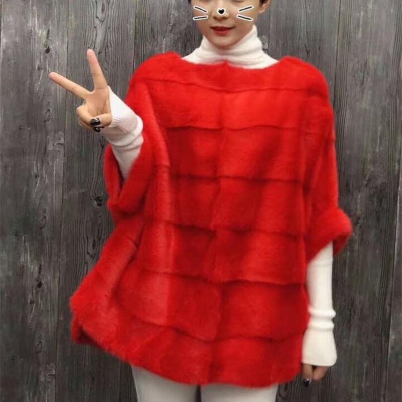 Новинка, модное женское пальто из натурального меха норки, рубашка летучая мышь, куртка на осень и зиму, короткая популярная норковая шуба