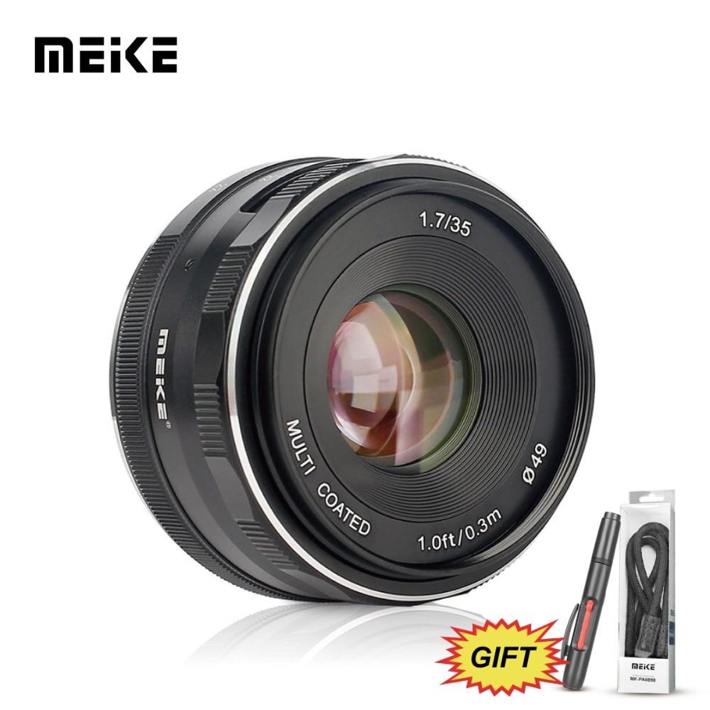 MEKE Meike MK-35mm F1.7 Large Aperture Manual Focus Lens for Canon-EF-M EOS M1/M2/M3/M5/M10/M50/M100 Cameras