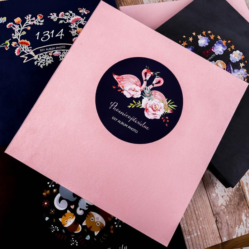 2018 new Handmade suede face DIY album souvenir album romantic creative personality photo album lovers' gifts
