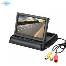 Foldable 4.3 Inch Car Reversing Digital LCD Display / Universal Monitor For Vehicle Backup Rear view Camera NTSC or PAL