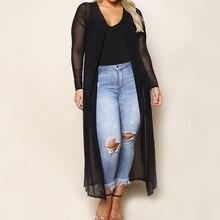 Plus Size Black Kimono Mujer 2019 Bluse Feminino Summer Beach Long Cardigan Women Sexy OL Blouse Top Kimono Femme Shirt 3XL-XL