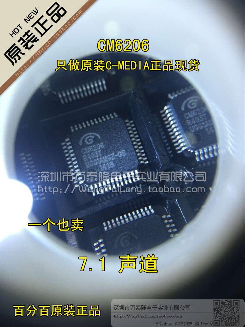1 piezas Milli LQFP48 CM6206 C-MEDIA canal 7,1 marcas ly original