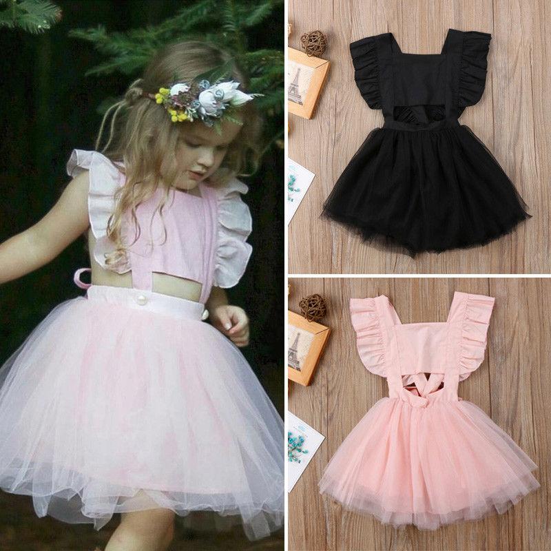 Toddler Kids Baby Girl Princess Tutu Tulle Dress Sundress Clothes Summer New