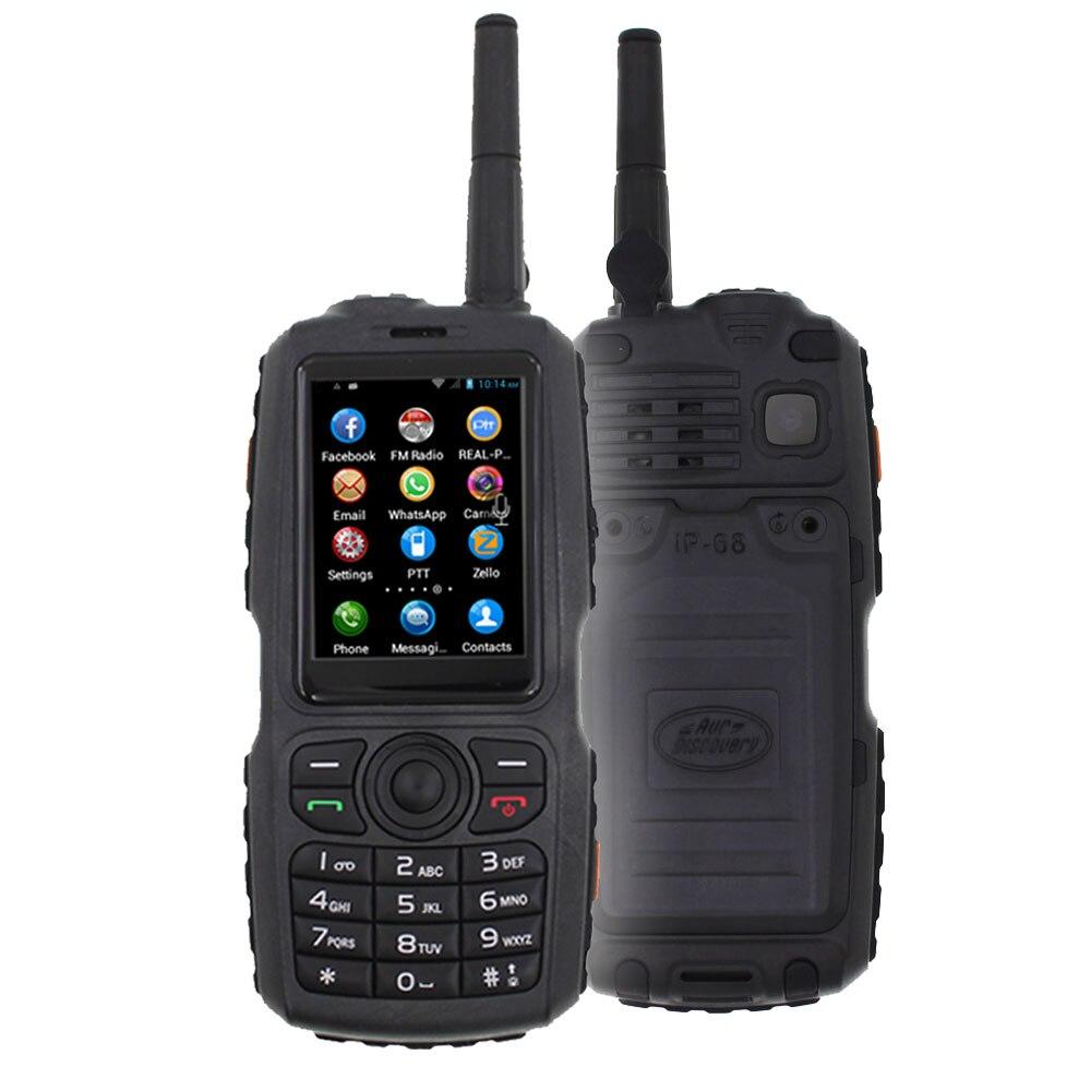 A18 teléfono móvil Zello Walkie talkie IP67 impermeable MT6572 Android Teléfono Inteligente 2G/3G Dual SIM teclado ruso