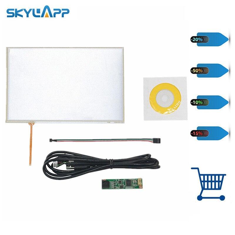 Skylarpu nuevo Kit de controlador USB de Panel táctil resistivo de 4 cables de 10,1 pulgadas para B101EVN07.0 panel táctil de pantalla LED de vidrio