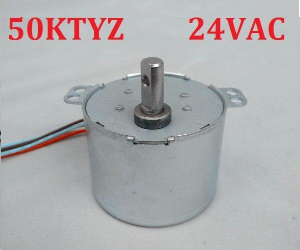 2PCS 50KTYZ 24V AC 6-8W 1, 2.5, 5, 8, 10, 15, 20, 30, 50, 80 100RPM,Permanent Magnet Synchron Getriebe Motor