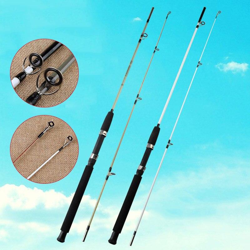 Barra de pesca FRP, potente y resistente aparejo de pesca de viaje, caña de agua salada B2Cshop