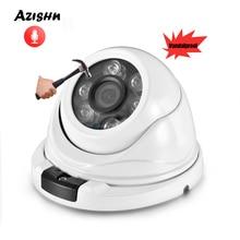 AZISHN Audio H.265 3 mp   Caméra IP grand angle onvif IP66 P2P XMEye, caméra de vidéosurveillance dôme réseau DC 12V/48V PoE