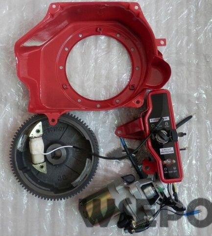 ¡Calidad Chongqing! Kit de arranque eléctrico (incluye motor de arranque/carcasa/volante, bobina, etc.) para motor de Gas GX160/GX200/168F/170F