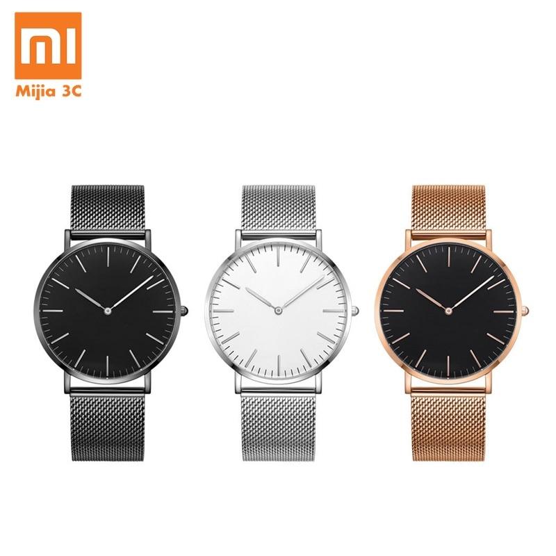 Xiaomi Original reloj de cuarzo Youpin TwentySeventeen serie Ultra-delgada de reloj de cuarzo de negocios casuales impermeable par reloj de pulsera