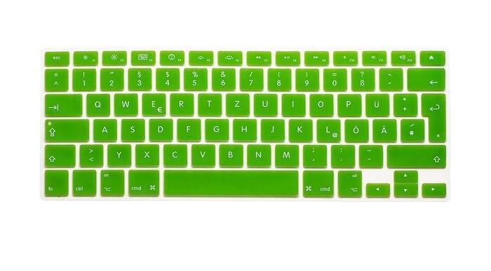 """200 PCS Tampa Do Teclado de Silicone À Prova D Água Multicolor Adesivos de Teclado para Apple Macbook 12 """"(Versão DA UE, Alemão) MEAFO"""