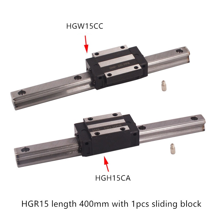 HGR15 ancho de guía lineal 15mm de longitud 400mm con HGH15CA o HGW15CC carril de deslizamiento de movimiento para eje cnc xyz