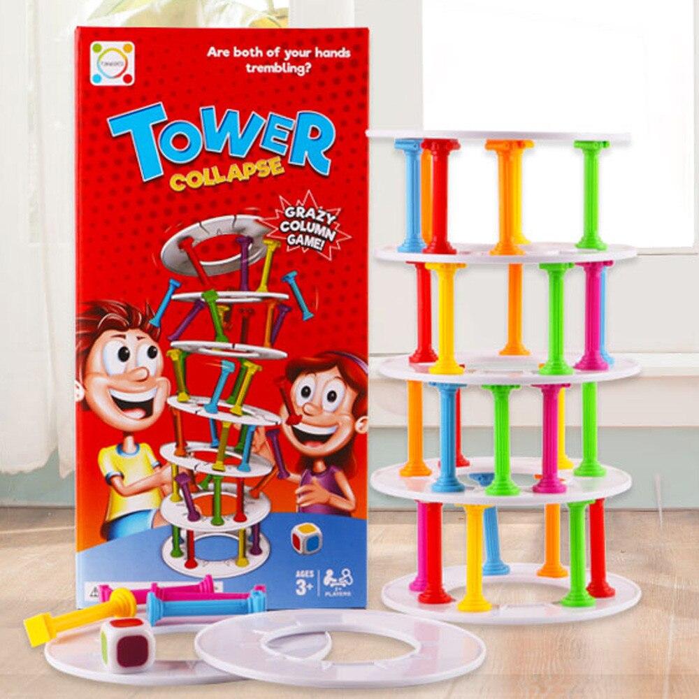 Wobbly, juego de caída de la torre, juego de apilamiento de columna, juegos de mesa, desafío, juguete con juego divertido para niños, juguete para fiesta, Dropship